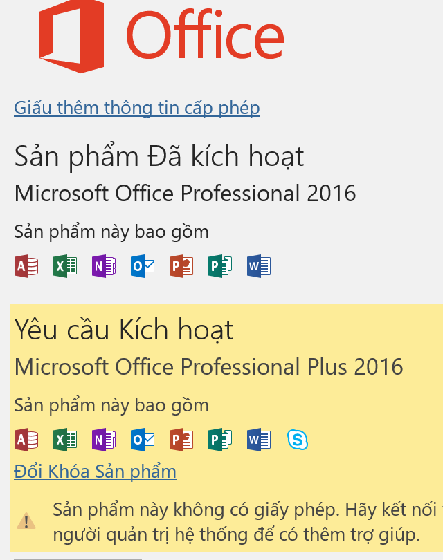 Thông báo lỗi bản quyền trên Office (tiếng Việt)