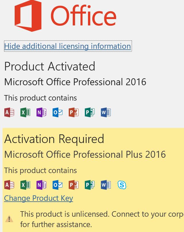 Thông báo lỗi bản quyền trên Office (tiếng Anh)