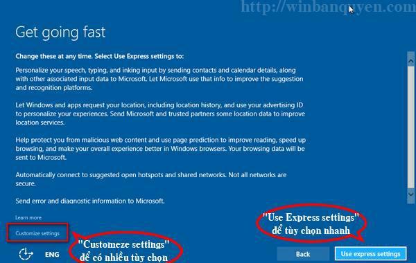 Nâng cấp Windows Bảng giới thiệu các tùy chọn hệ thống của Windows 10