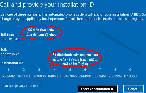 Hướng dẫn kích hoạt bản quyền Windows 7, 8 1, 10 qua Phone bằng
